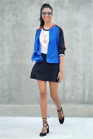 Be Bold Minimal Open Bomber Jacket