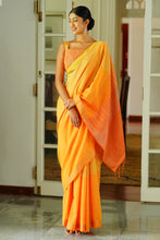 Load image into Gallery viewer, Urban Drape Golden Glow Saree