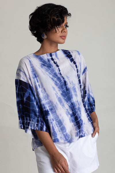 Wide Sleeve Tie Dye Top V1