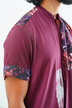Load image into Gallery viewer, Band-Collar Abstract Floral Shirt