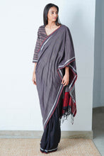 Load image into Gallery viewer, Urban Drape Ink Shadow Saree