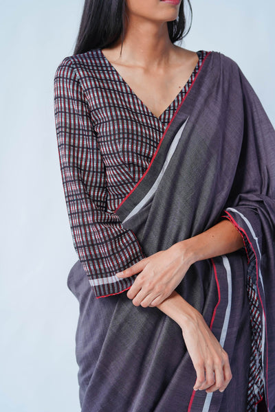 Urban Drape Ink Shadow Saree
