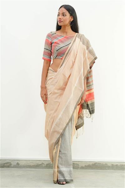 Urban Drape Tropical Blossoms Saree