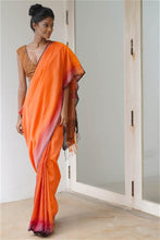 Load image into Gallery viewer, Urban Drape Star Coral Saree