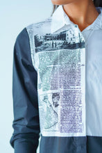 Load image into Gallery viewer, News Paper Printed Oversized Shirt Dress
