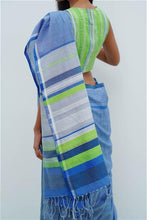 Load image into Gallery viewer, Urban Drape Tropical Fern Green Saree