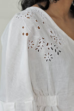 Load image into Gallery viewer, On Cloud 9 Embroidered Puff Sleeve Top V2