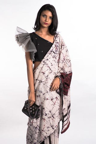 Urban Drape Blood Rose Saree