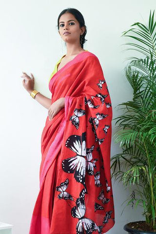 Urban Drape Butterfly Crescent Saree