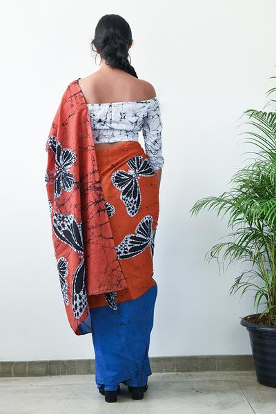 Urban Drape Butterfly Flock Saree