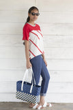 Nautical T-shirt - Red Stripe
