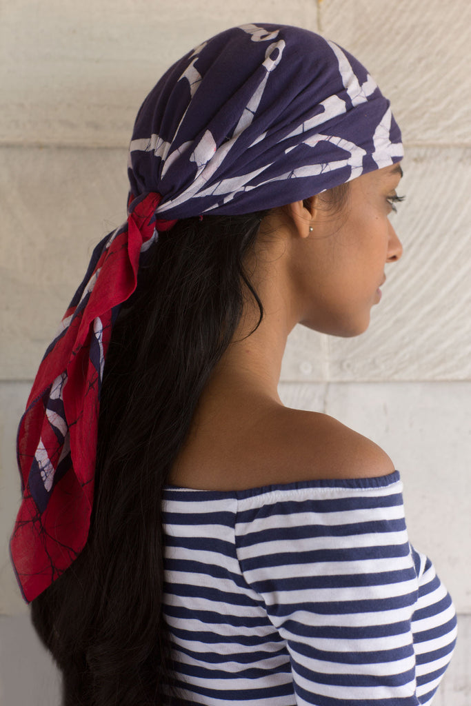 Nautical scarf - Red, White & Blue