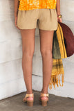 Linen Beach Shorts - Beige