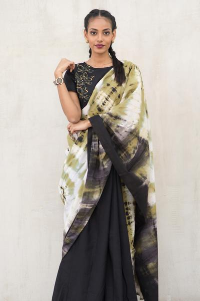 Urban Drape Camouflage Saree - Fashion Market.LK