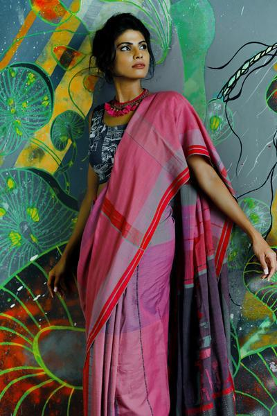 Urban Drape Coloured Passage Saree - Fashion Market.LK