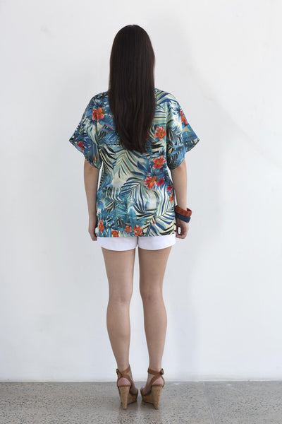 Tropical Print Top