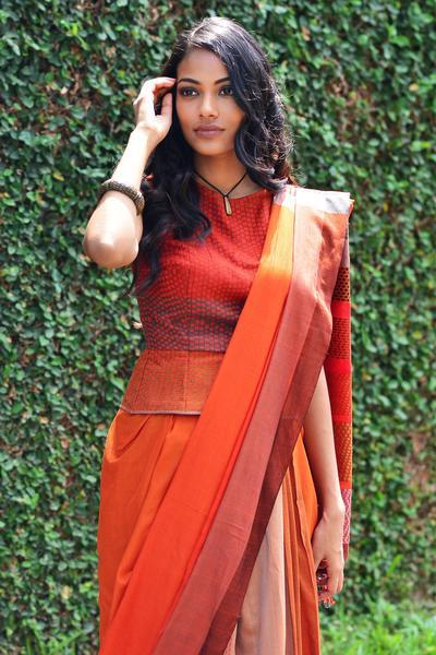 Urban Drape Fire Dreaming Saree - Fashion Market.LK