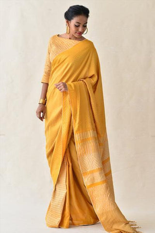 Urban Drape Golden Flakes Saree
