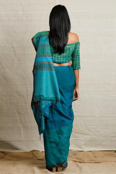 Urban Drape Green Ocean Breeze Saree
