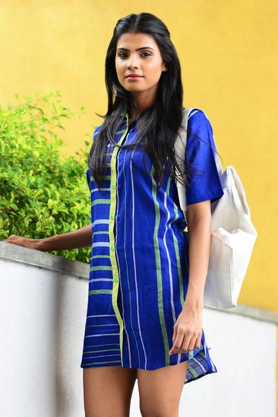 Hand Woven Shirt Dress
