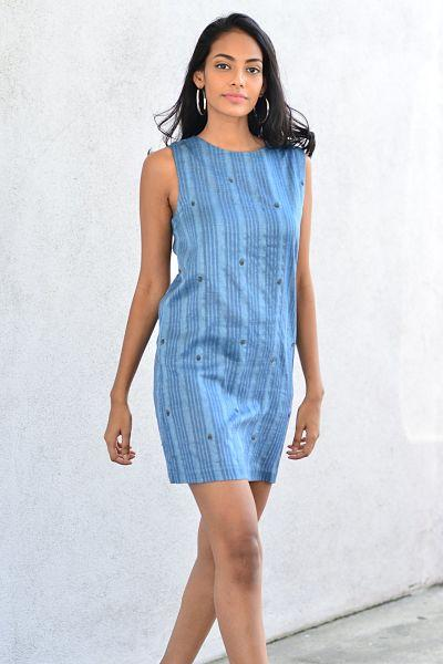 Hand Woven Sleek Shift Dress