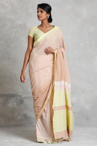 Urban Drape  Lime Shadow Saree