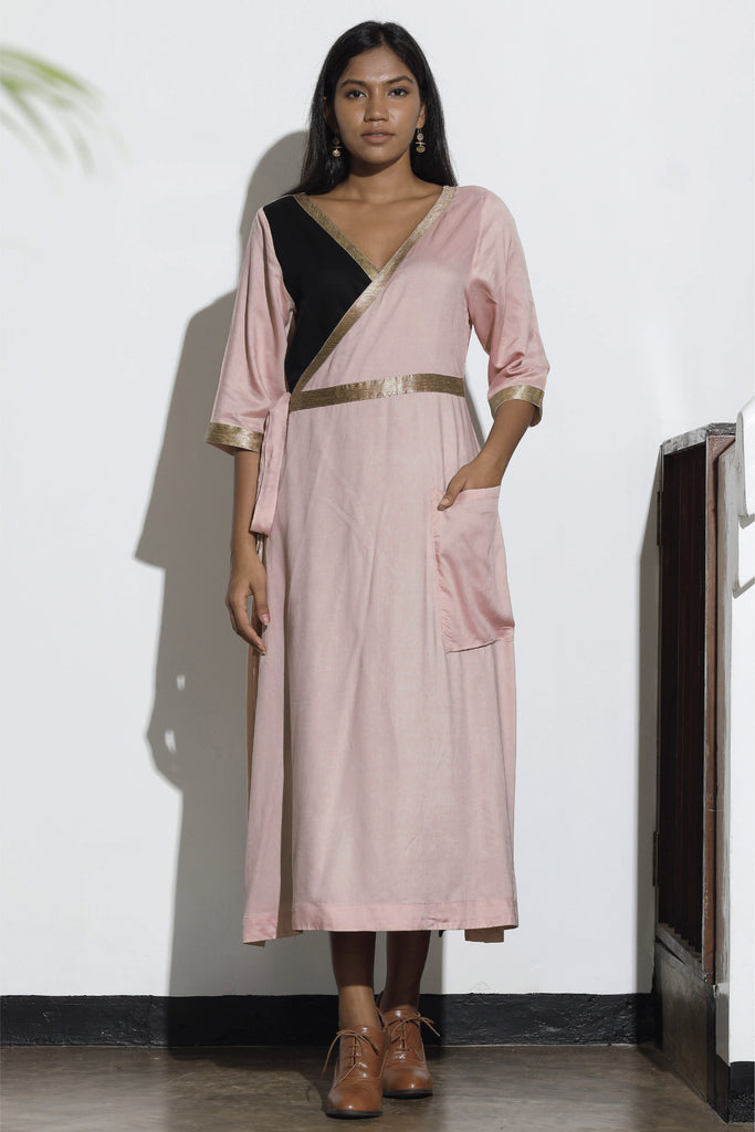 Laelia Pink Wrap Dress