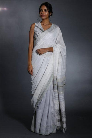 Urban Drape Lux White Haze Saree