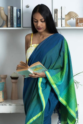 Urban Drape Moss Fall Saree - Fashion Market.LK