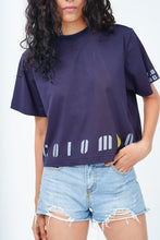 "Load image into Gallery viewer, Navy Blue ""Colombo"" Crop T-Shirt"