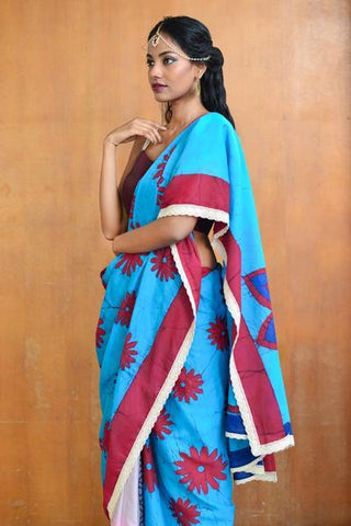 Urban Drape Paisley Mint Saree