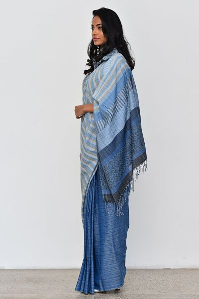 Urban Drape Rugged Denim Saree