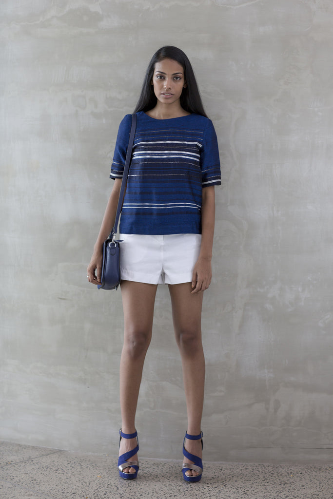 Striped Hand woven Top