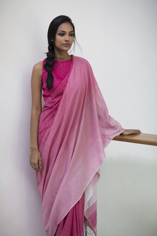 Urban Drape Midnight Blooms Saree