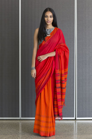 Urban Drape Green post box saree