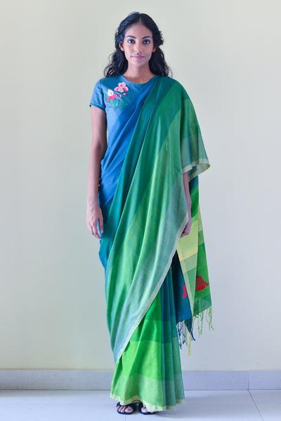 Urban Drape Secret Garden Saree - Fashion Market.LK