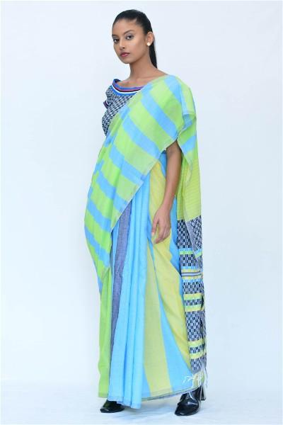 Urban Drape Power Plaids Saree