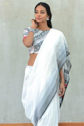 Urban Drape Salt Pillar Rhythms Saree