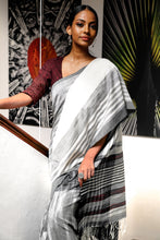 Load image into Gallery viewer, Urban Drape Shadow Clouds -Tie Dye Hand Woven Saree