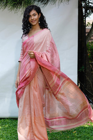 Urban Drape Amaranth Saree