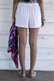 Linen Beach Shorts - White