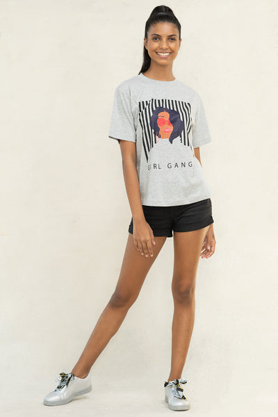 Girl Gang Grey T-shirt