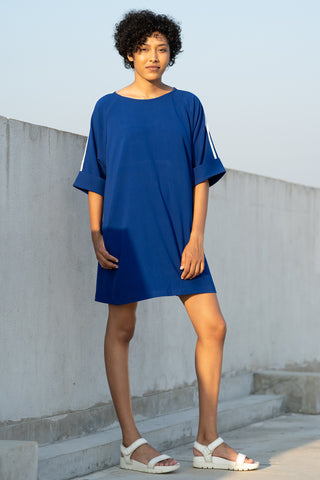 Denim Kaftan Midi Dress