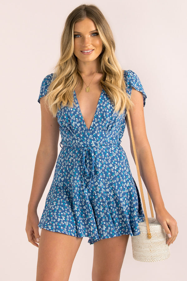 Flynn Playsuit / Blue