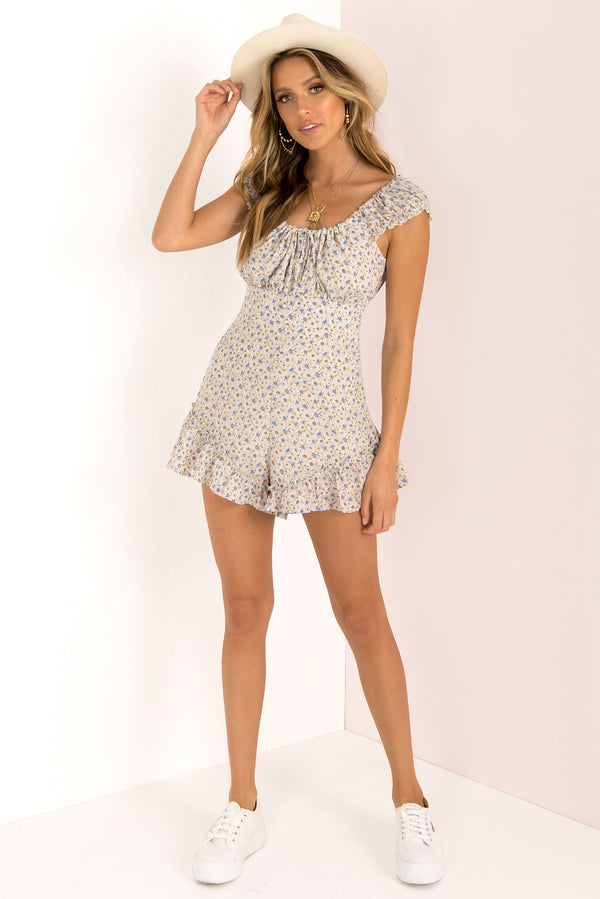 Dakota Playsuit / Beige