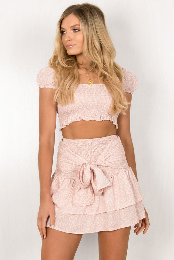 Fifi Skirt / Blush floral