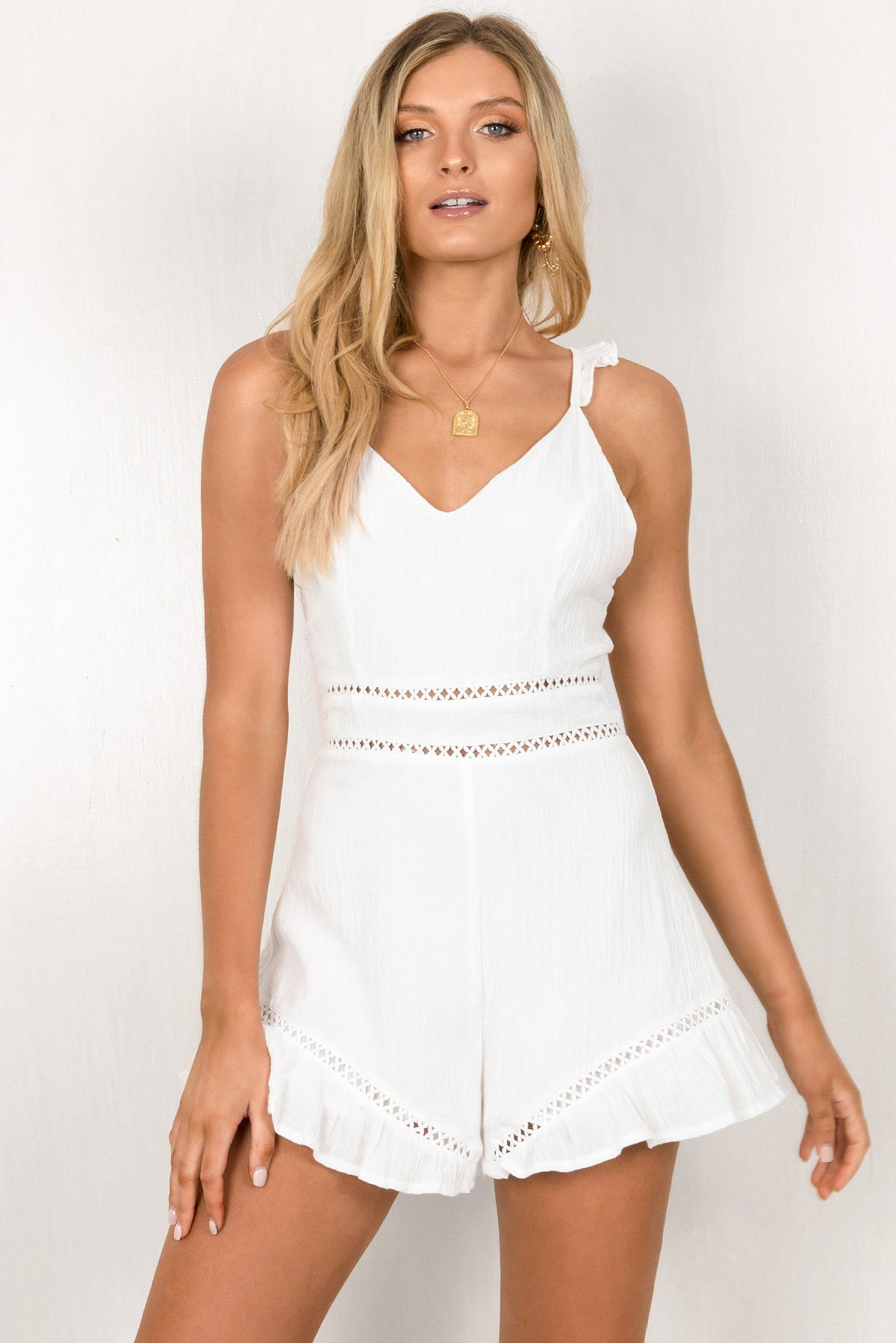 Kiara Playsuit / White