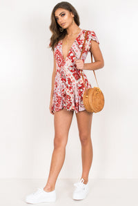 Virgo Playsuit / Red