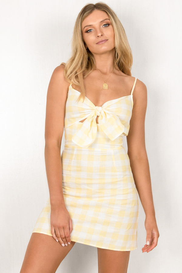 Serena Dress / Yellow