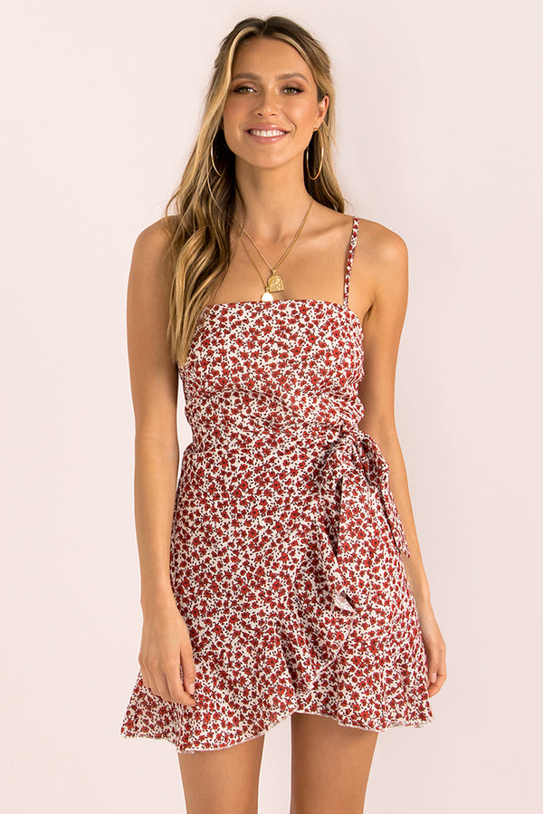 Leah Dress / Red Floral